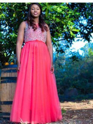 Peach Bling Dress